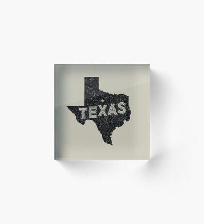 Texas State Shapes - Retro & Vintage Acrylic Block