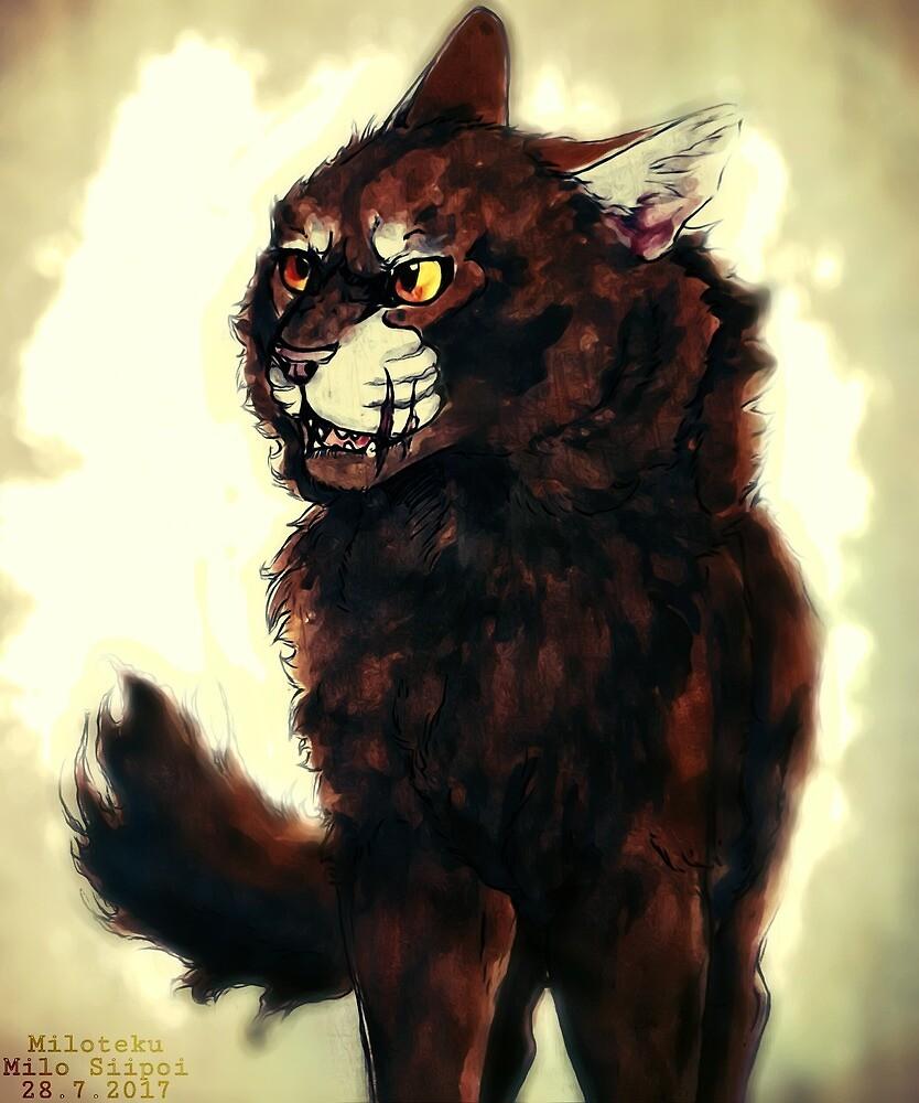 Oakfang (Warrior Cats OC Bustshot) by Miloteku