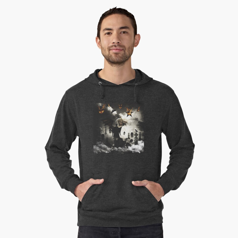 The Stars are Falling Lightweight Hoodie Front