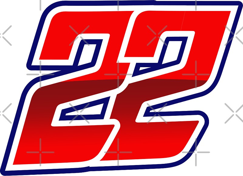 quot22 sam lowes motogp rider numberquot stickers by xever With kitchen cabinets lowes with redbubble stickers on car