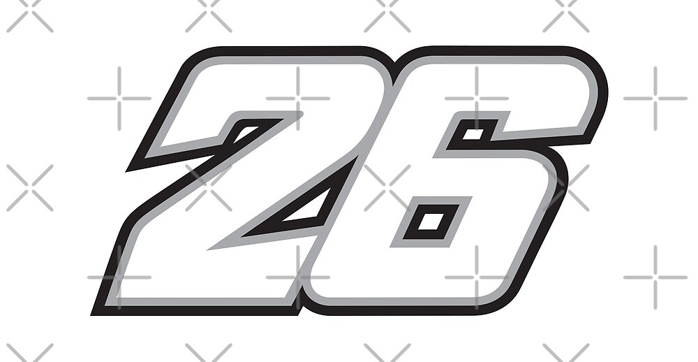 #26 Dani Pedrosa - MotoGP Rider Number by xEver