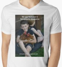 Featured in Petography Magazine Men's V-Neck T-Shirt