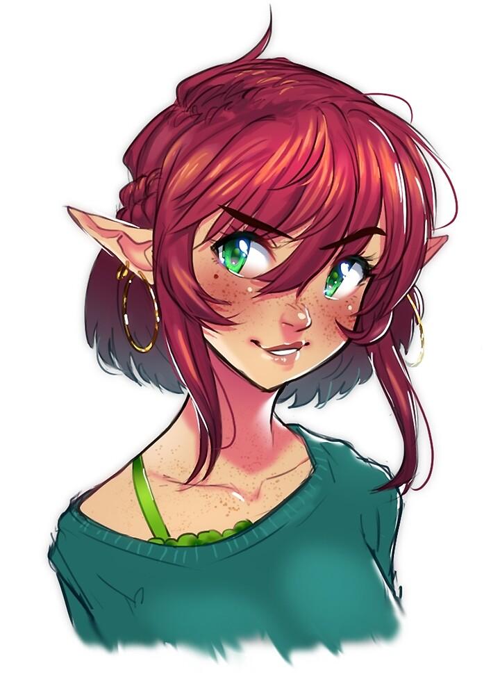 Freckled Elf by MLeth