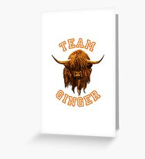 Team Ginger Scottish Highland Cow Greeting Card