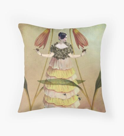 Queen B. Throw Pillow