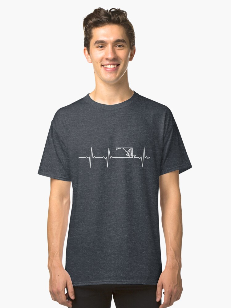 Heartbeat Maryland Classic T-Shirt Front