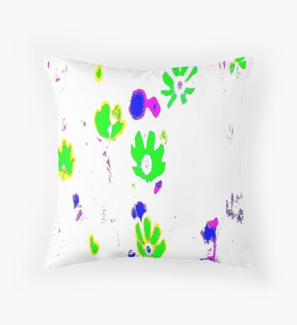 Green flowes pattern Throw Pillow