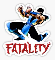 sub zero fatality Sticker