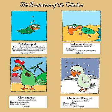 Evolution of the chicken by robotpower