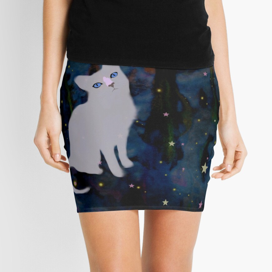 Forest cat Mini Skirt