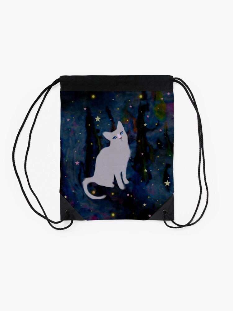 Alternate view of Forest cat Drawstring Bag