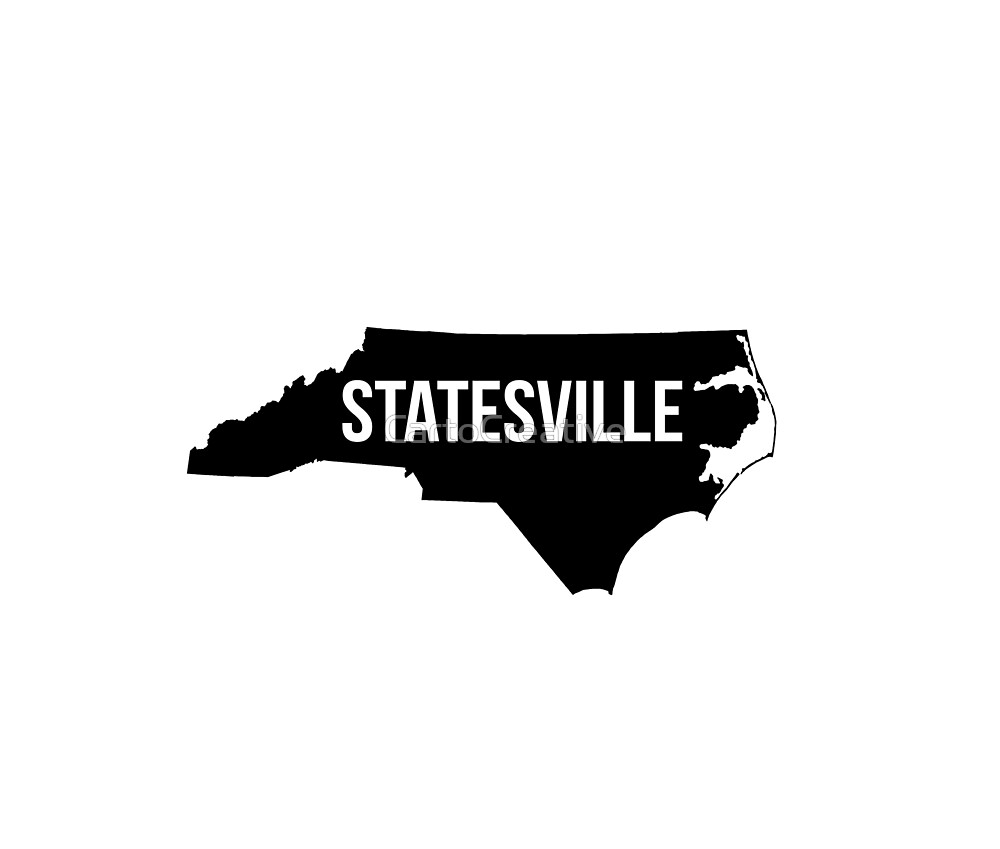 Statesville, North Carolina Silhouette by CartoCreative