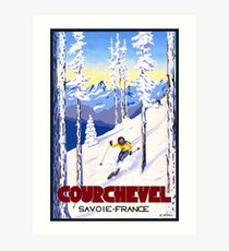 Courchevel, France, Alps, winter, ski, sport Poster Art Print