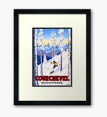 Courchevel, France, Alps, winter, ski, sport Poster Framed Print