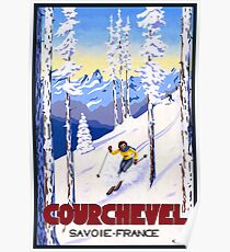 Courchevel, France, Alps, winter, ski, sport Poster Poster