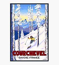Courchevel, France, Alps, winter, ski, sport Poster Photographic Print