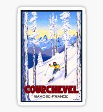 Courchevel, France, Alps, winter, ski, sport Poster Sticker