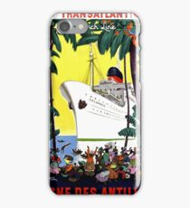 Trans Atlantic French line, cruiser, tourist ship, travel Poster iPhone Case/Skin
