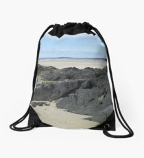 Rock Pool in Donegal Ireland Drawstring Bag