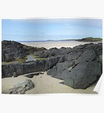 Rock Pool in Donegal Ireland Poster