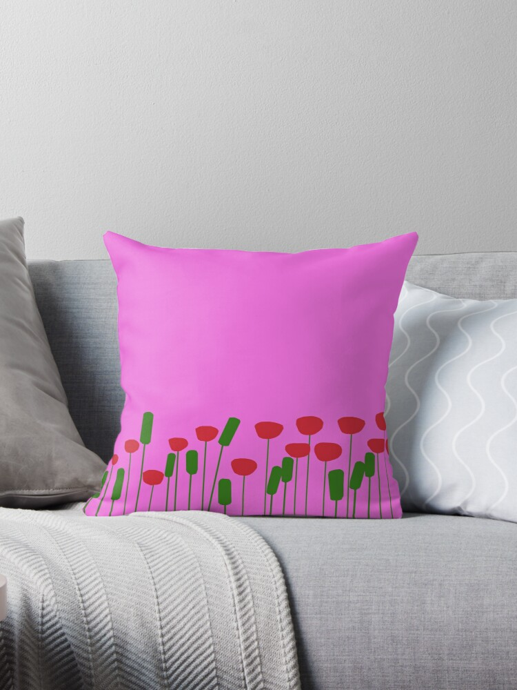 Poppies on pink by redumbrellashop