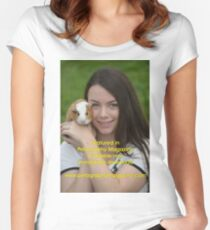 Featured in Petography Magazine Women's Fitted Scoop T-Shirt