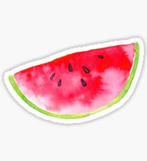 Summer watercolour watermelon slice Sticker