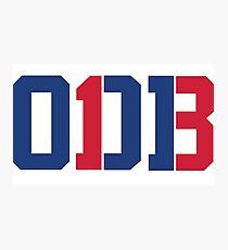 Odell Beckham Jr. | ODB 13 (Red/Blue Colorway) Photographic Print