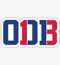 Odell Beckham Jr. | ODB 13 (Red/Blue Colorway) Sticker