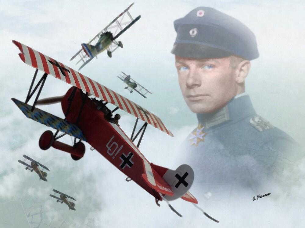 Oberleutnant Ernst Udet by AH-Aviation-Art