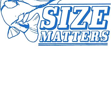 Size Matters Fish Logo Funny by jawara
