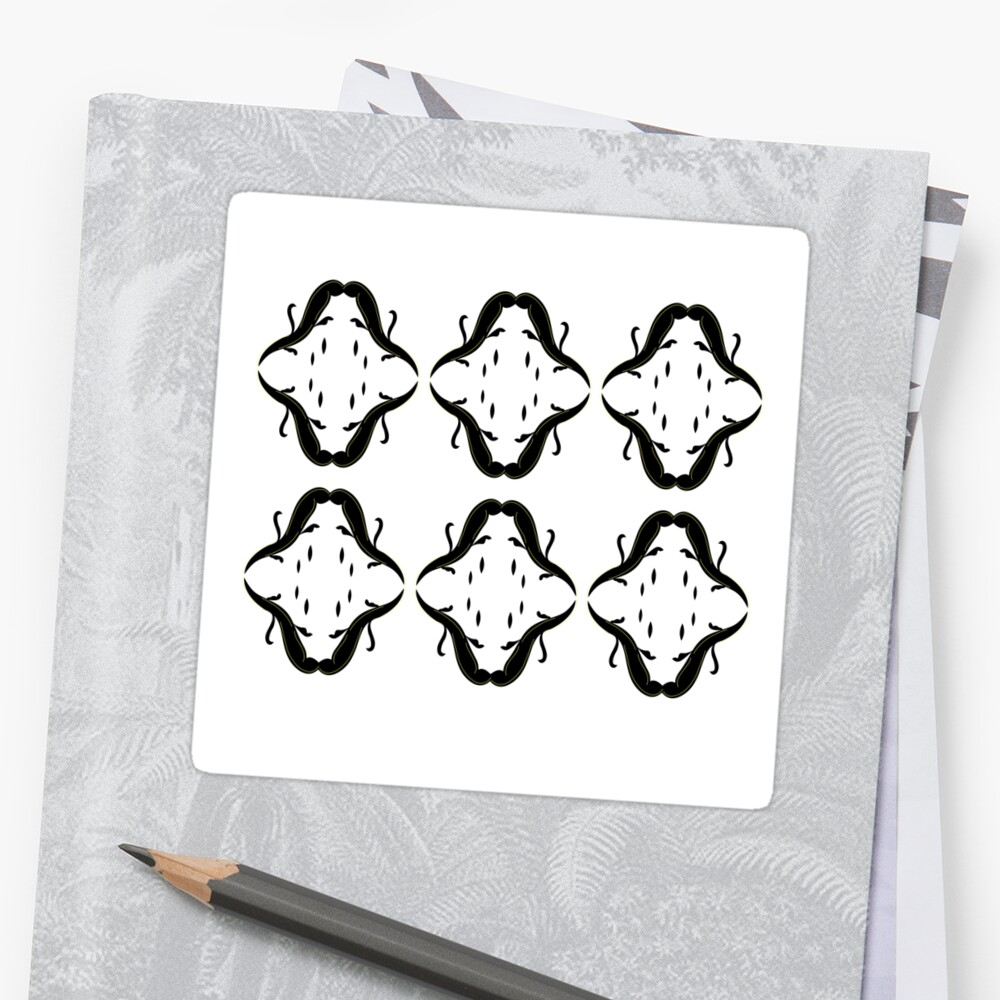 Luxury arabic ornaments blackwhite by Bee and Glow Illustrations Shop