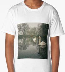 Swan Lake, Wandsworth Common Long T-Shirt