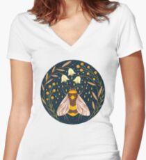 Camiseta entallada de cuello en V Cosechadora de oro