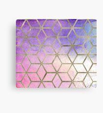 Pixie dust geometric watercolor Canvas Print