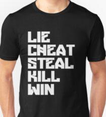 lie cheat steal Jewel runner T-Shirt
