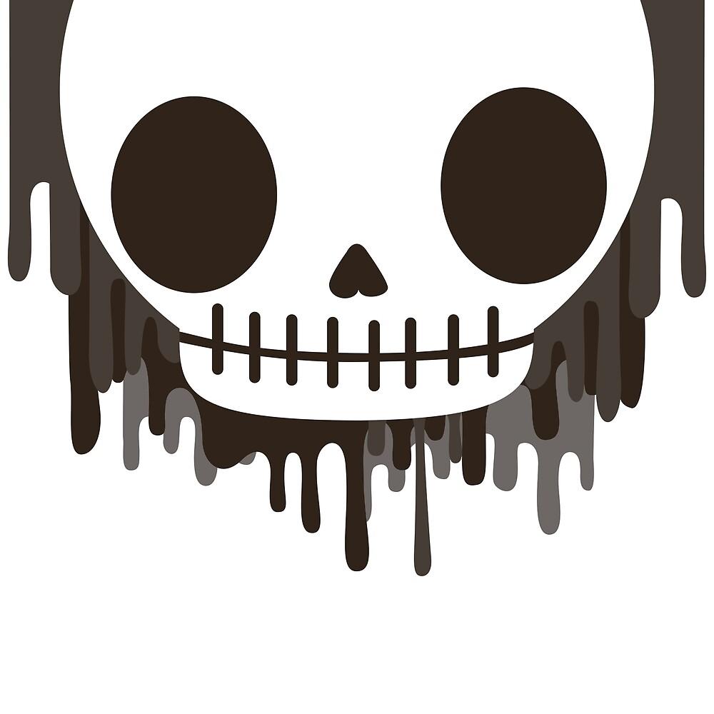 painters skull by fairytaleink