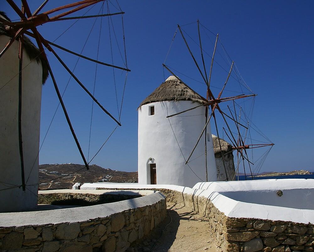Mykonos Windmills #1 by Tom  Reynen