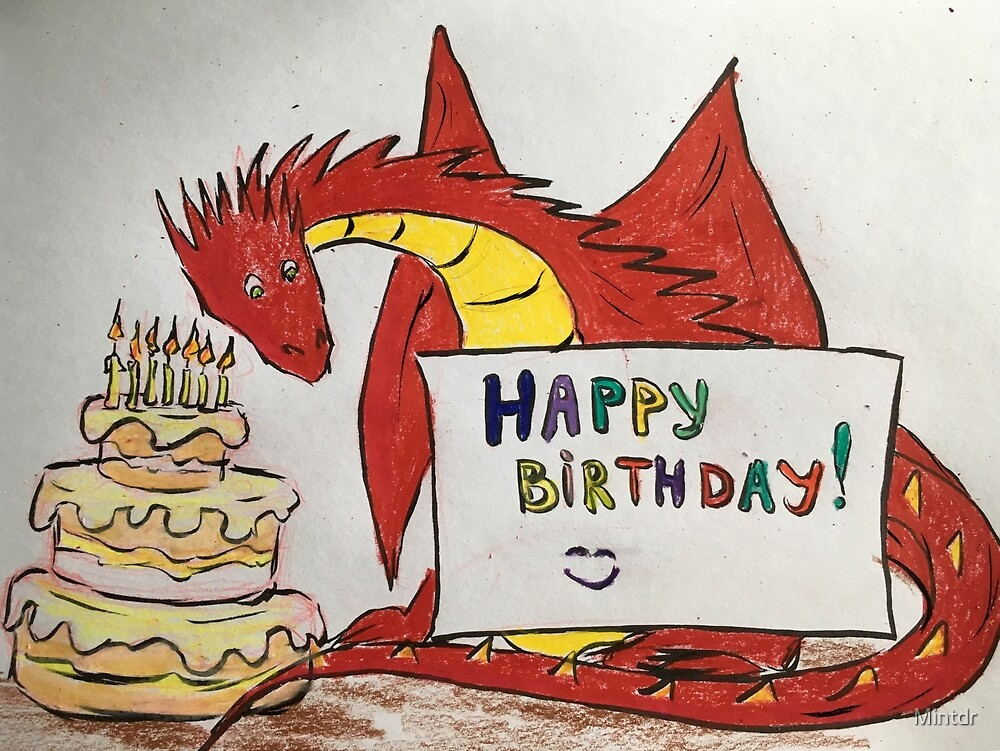 BIrthday dragon  by Mintdr