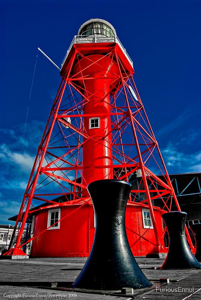 Lighthouse and Bollard by FuriousEnnui