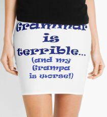 Minifalda Mi gramática es terrible