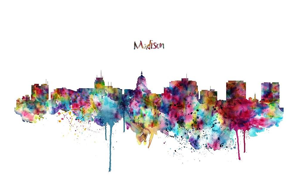 Madison Skyline Silhouette by Marian  Voicu
