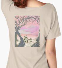 Japanese Blossom & Pandas Women's Relaxed Fit T-Shirt