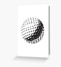 GOLF BALL, SPORT, Golfing, Golf, Black on White Greeting Card