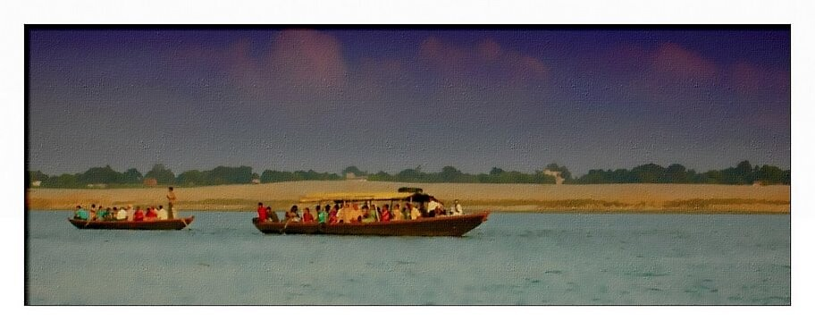 Two boats of people by nisheedhi