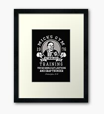 Mick's Gym Framed Print