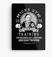 Micks Fitnessstudio Metallbild