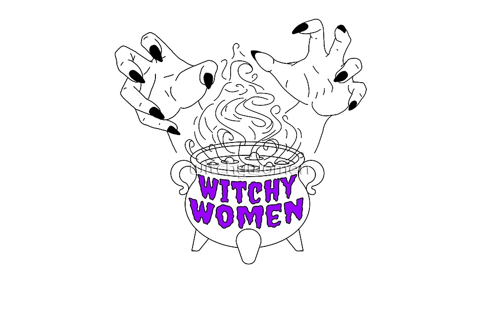 Purple logo for WHITE products  by witchywomen