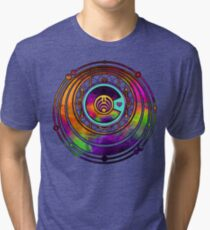 Psychedelic Bassnectar Fractal Colorado Love Tri-blend T-Shirt