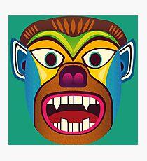 Devil ethnic mask Photographic Print